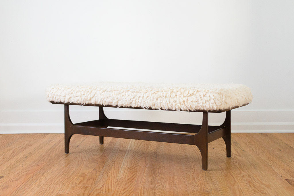 MCM Natural Wool Bench 01