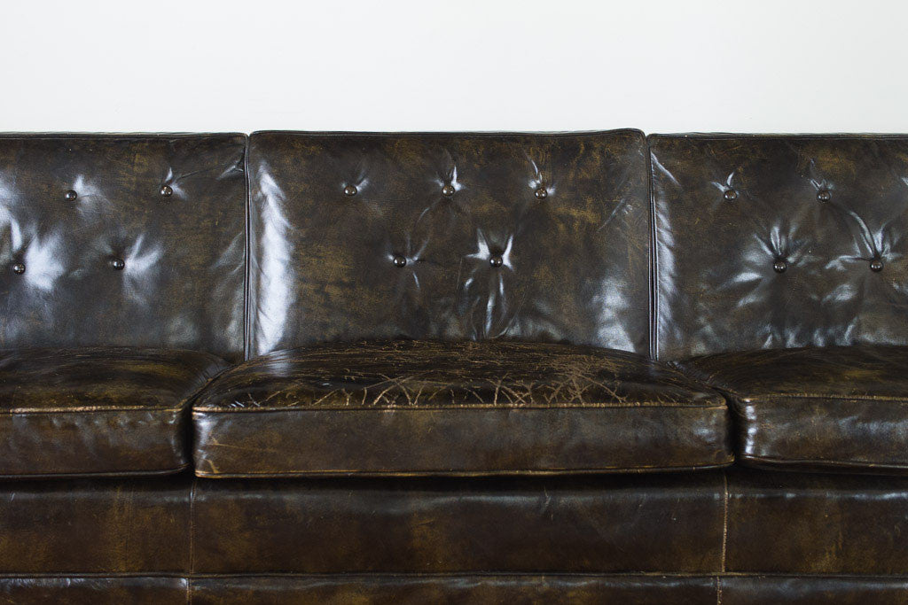 Drexel MCM Leather Sofa