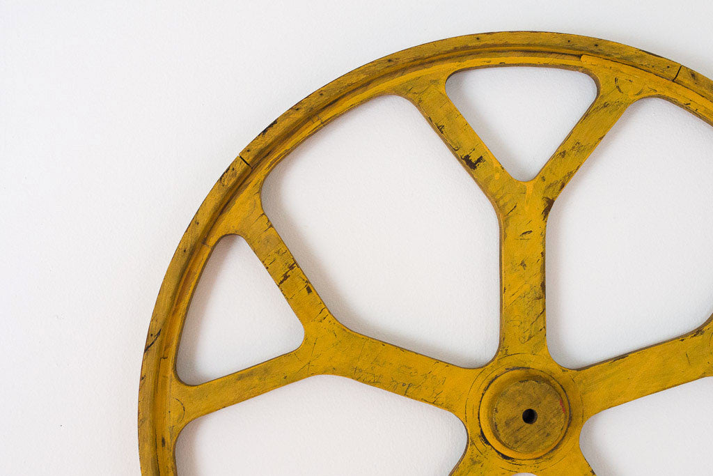 Yellow Wagon Wheel