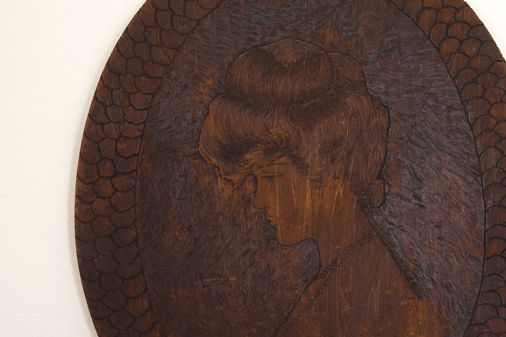 1904 Hand Carved Portrait