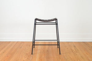 Swift & Monell Leather Stool
