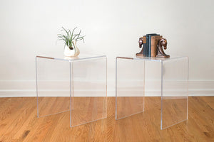 MCM Lucite Side Tables