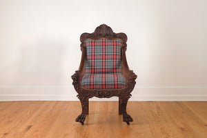 Plaid Griffin Head Chair