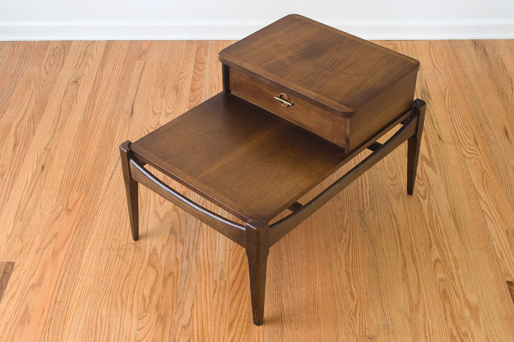 MCM Bassett Step Side Table