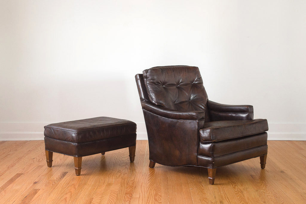 Leather Club Chair U0026 Ottoman