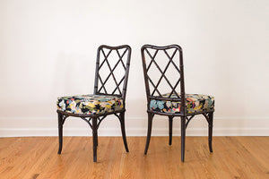 Chinoiserie Barkcloth Chairs