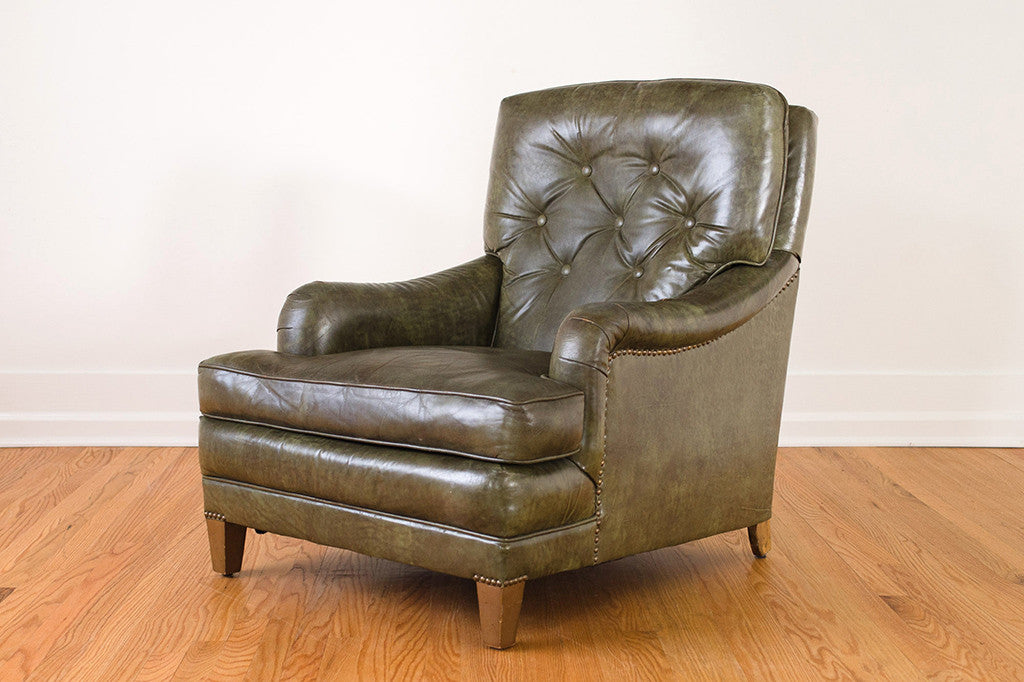 Green Leather Club Chair Homestead Seattle