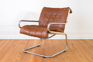 MCM Leather & Chrome Chair