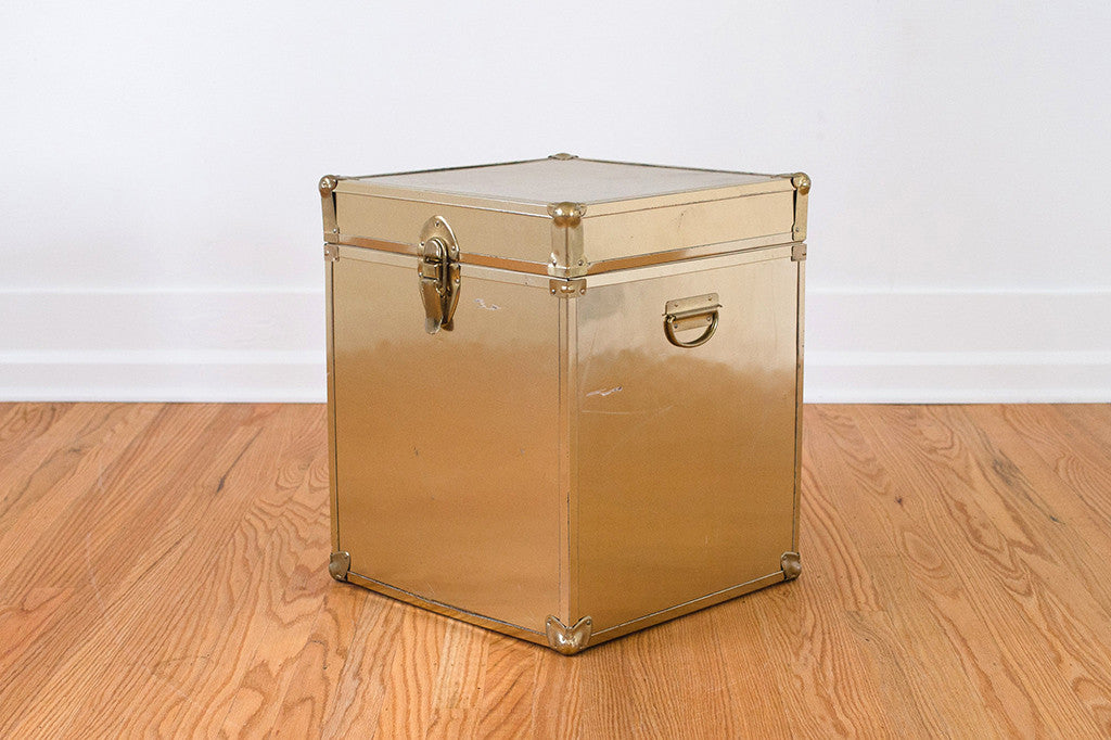 Gold Trunk Side Table