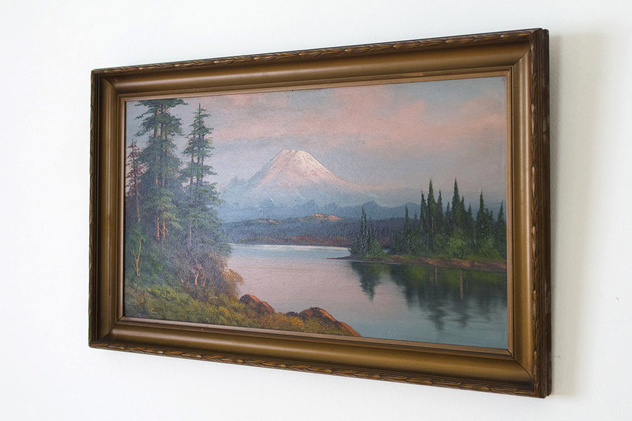 1920's Mt Rainier Painting