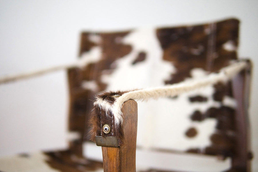 Cowhide Campaign Chair