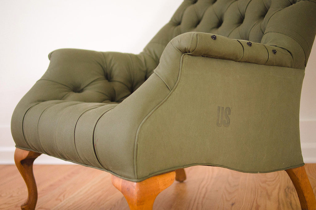 Military Tent Leopold Chair