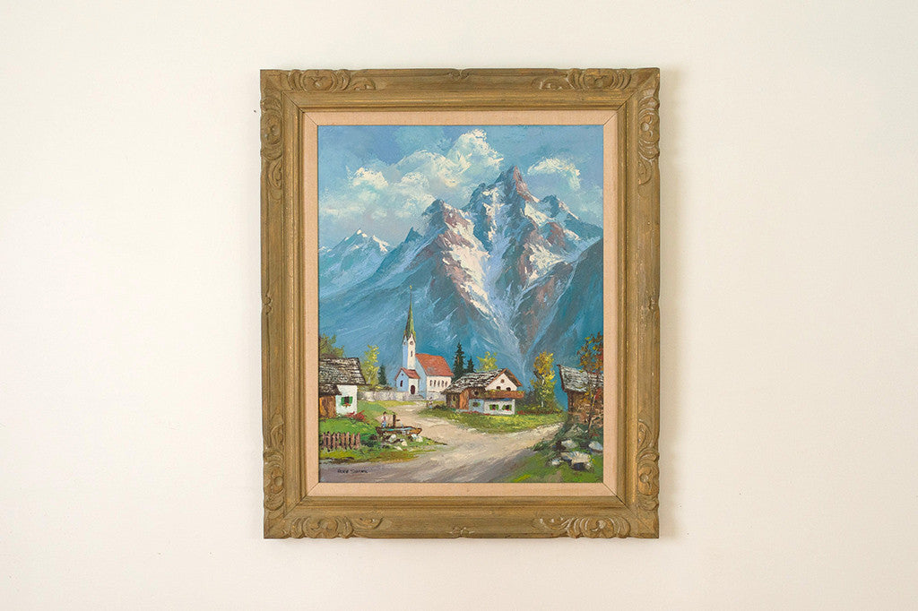 Alpine Village Painting