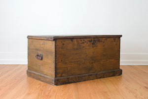 Antique English Pine Trunk