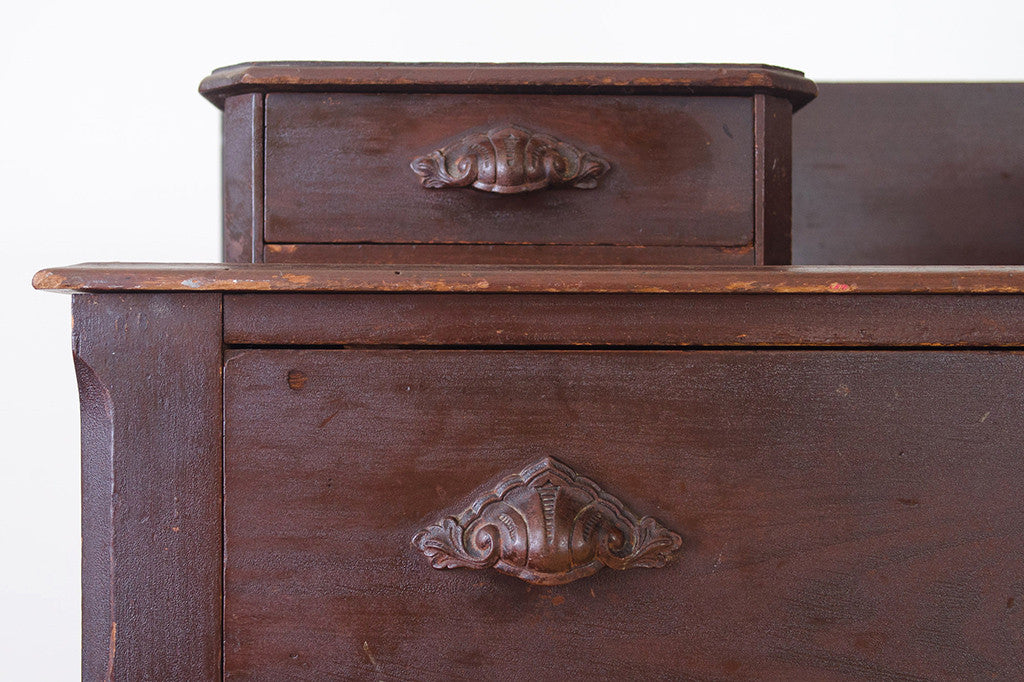 Antique Clamshell Dresser