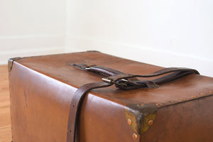 Leather Trunk Side Table