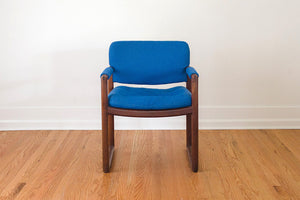 MCM Blue Arm Chair