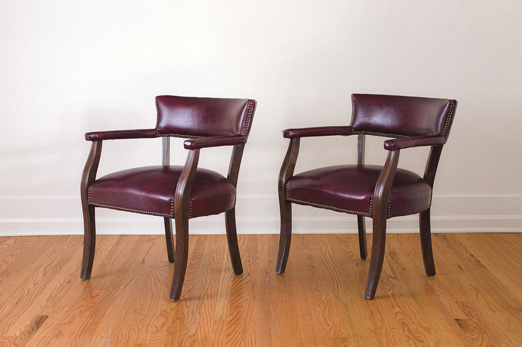 Cordovan Library Chairs