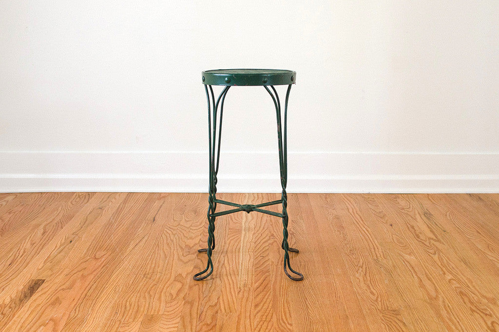 Twisted Iron Stool