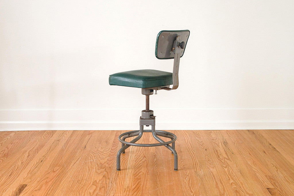 Green Drafting Stool