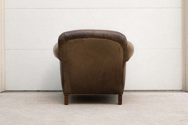 Vintage Art Deco Leather Club Chair