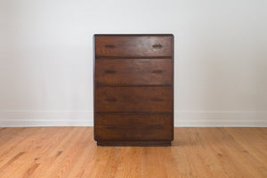 Vintage Art Deco Highboy Dresser