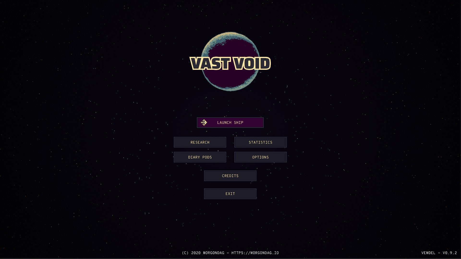 Vast Void Startscreen