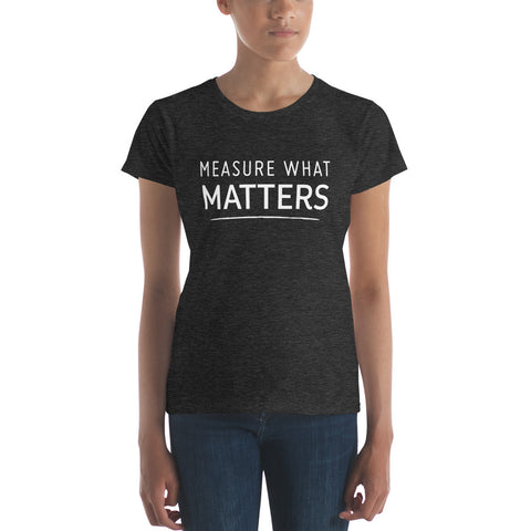 Measure What Matters Heather Dark Grey with White Text
