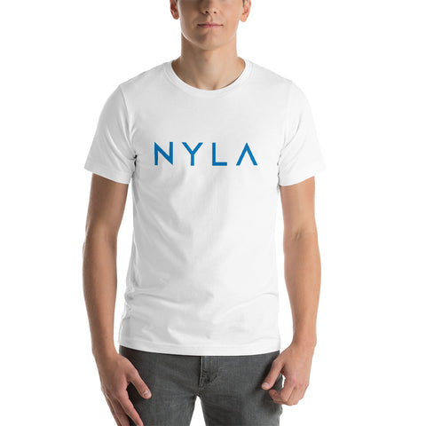 Short-Sleeve Unisex T-Shirt in White, Heather, Navy or Steel Blue
