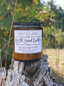 Spiced Pumpkin Latte' Wood Wick Soy Candle 7oz