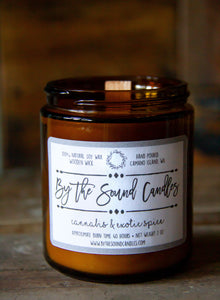 Cannabis & Exotic Spice Wood Wick Soy Candle 7oz