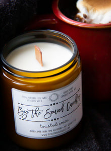 Toasted Cocoa Wood Wick Soy Candle 7oz
