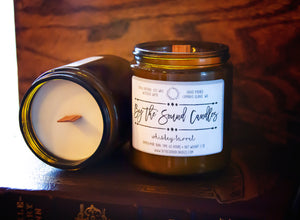 Whiskey Barrel Wood Wick Soy Candle 7oz