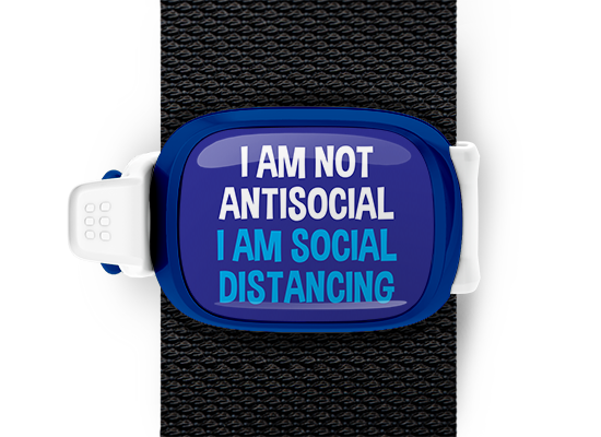 I Am Not Antisocial I Am Social Distancing Stwrap Bag Tag