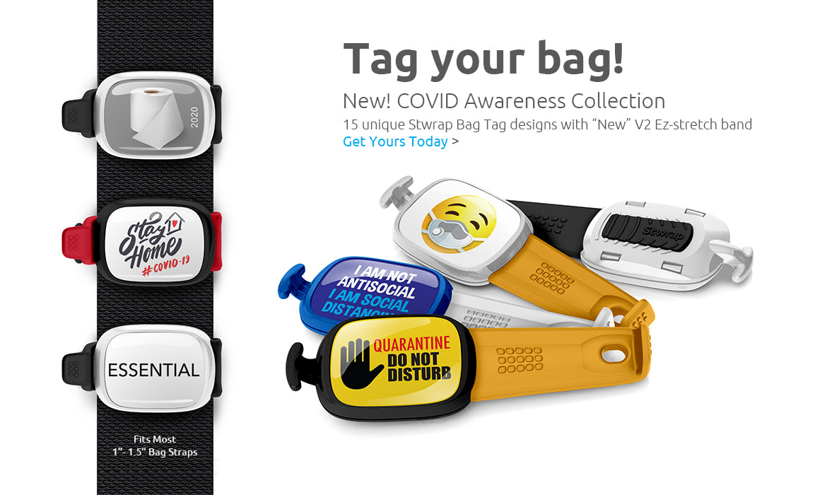 Stwrap collectible bag strap accessory. Buy Stwraps today!