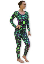 Load image into Gallery viewer, Long Sleeve Catsuit : Atomic Alien - Women Catsuits - Space Tribe