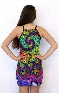 Sublime Strap Dress : Whirlpool fractal - Women Tops - Space Tribe