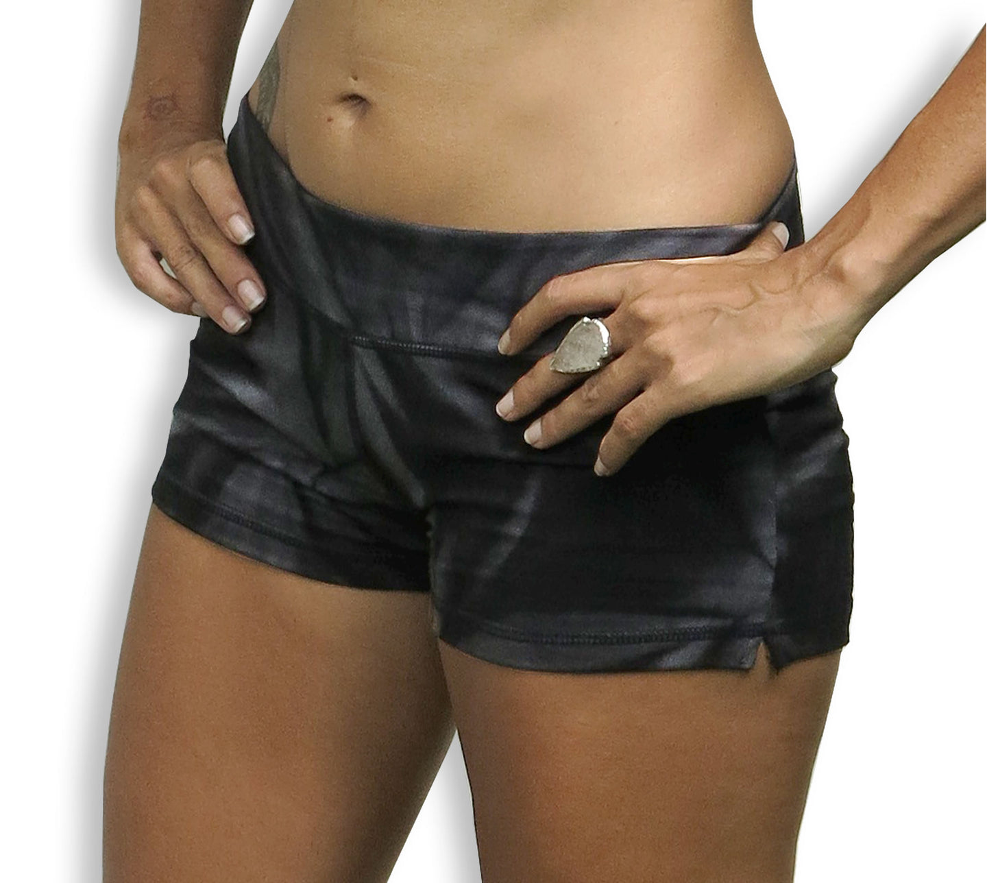 Black Star Tie Dye Hot Pants