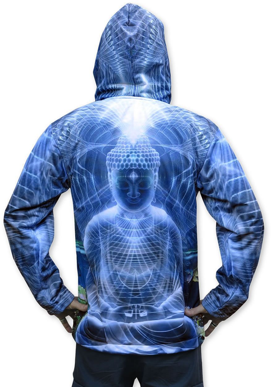 Sublime Hooded  Jacket : Ocean Buddha - Men Jackets - Space Tribe