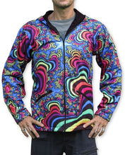 Load image into Gallery viewer, Sublime Hooded  Jacket : Rainbow Valley Fractal - Men Jackets - Space Tribe