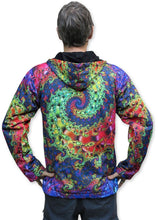 Load image into Gallery viewer, Sublime Hooded  Jacket : Whirlpool Fractal - Men Jackets - Space Tribe