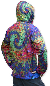 Sublime Hooded  Jacket : Whirlpool Fractal - Men Jackets - Space Tribe