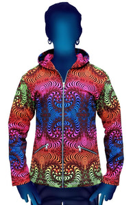 Hooded Zip Jacket : Rainbow Fractal - Men Jackets - Space Tribe
