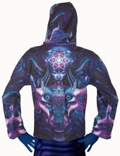 Load image into Gallery viewer, Hooded Zip Jacket : Violet Foxy Lady - Men Jackets - Space Tribe