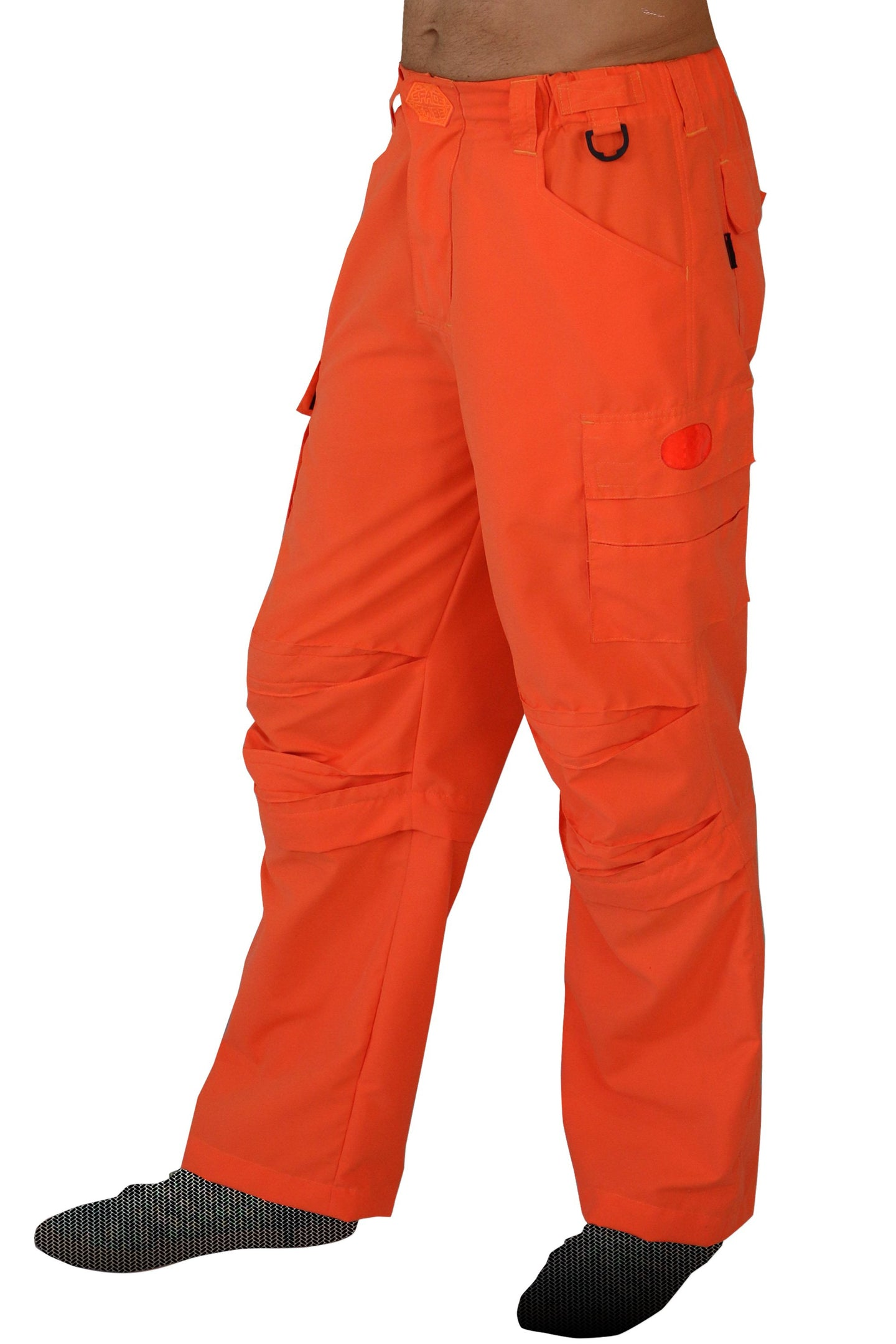 Cyber Pants : UV Orange - Men Pants - Space Tribe