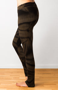 Brown Star Tie Dye Leggings