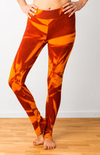 Load image into Gallery viewer, Orange Star Tie Dye Leggings