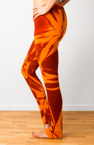 Orange Star Tie Dye Leggings