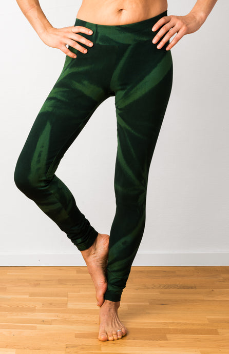 Green Star Tie Dye Leggings