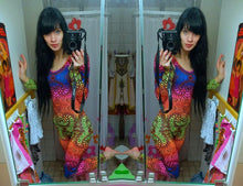 Load image into Gallery viewer, Long Sleeve Catsuit : Rainbow Fractal - Women Catsuits - Space Tribe